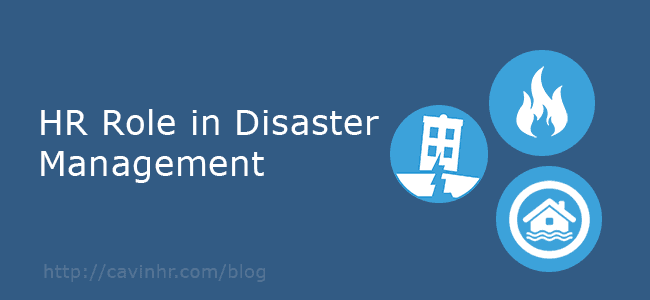 HR role in disaster management